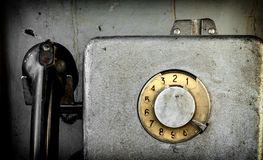 gammal payphone Arkivbild