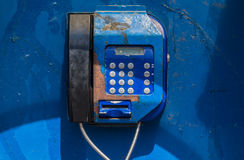 gammal payphone Arkivbilder