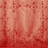 gammal pergament för blom- motiv Royaltyfri Bild