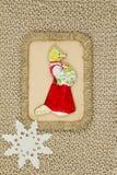 Gammal period för julleksakpapp 1950-1960 Royaltyfria Foton
