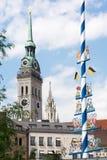 Gammal Peter kyrka i Munich Royaltyfri Fotografi
