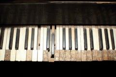 Gammal pianodetalj Arkivbilder