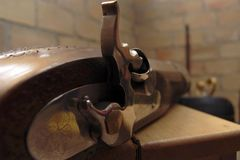 gammal pistol Arkivbilder
