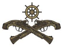 gammal pistol för flintlock Royaltyfri Foto