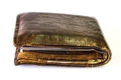 gammal plånbok Royaltyfri Bild