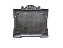 gammal platta för metall royaltyfri foto