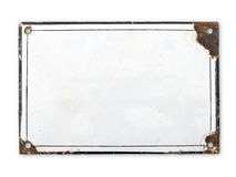 gammal platta för metall Royaltyfria Foton
