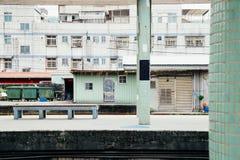 Gammal plattform för drevstation i Ruifang, Taiwan royaltyfri foto