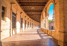 gammal plaza sevilla spain stad de espana för berömd landmark royaltyfria bilder