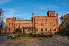 gammal poland för slott rzucewo Fotografering för Bildbyråer