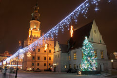 gammal poland poznan town Royaltyfria Bilder