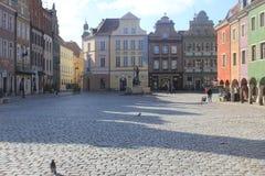 gammal poland poznan town Arkivbilder