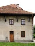 gammal poland sandomierzsynagoga Arkivfoto