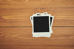 Gammal polaroidfilm arkivbilder