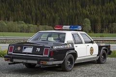 gammal polis för bil Arkivbild