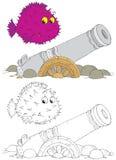 gammal porcupine för fisktryckspruta Fotografering för Bildbyråer