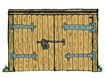Gammal port royaltyfri illustrationer