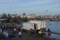 Gammal port av Essaouira, Marocko Arkivfoton