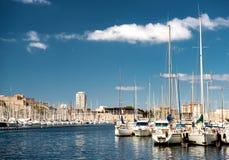 Gammal port av Marseille Arkivbilder