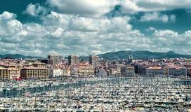 Gammal port av Marseille Fotografering för Bildbyråer