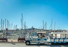 Gammal port av Marseille med yachter Royaltyfria Bilder