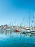 Gammal port av Marseille med yachter Royaltyfri Bild