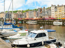 gammal port honfleur normandy för 05 france Arkivbild