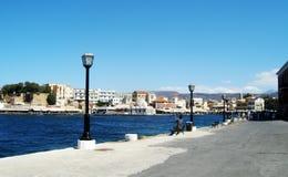 Gammal port i Chania, Creta ö, Grekland Royaltyfri Fotografi