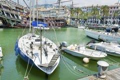 Gammal port i Genova, Italien Royaltyfri Fotografi