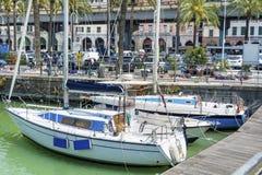 Gammal port i Genova, Italien Royaltyfria Foton