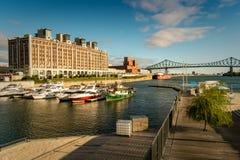 Gammal port Montreal Arkivfoton