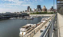 Gammal port Montreal Arkivfoto
