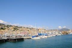 Gammal port på April 13, 2008 i Genova Arkivfoto
