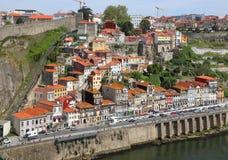 Gammal Porto stad från sikt för fågelöga Royaltyfri Fotografi