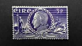 Gammal portostämpel Irland, EIRE 3p royaltyfri foto