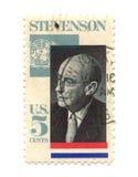 gammal portostämpel USA för cents fem Arkivbilder