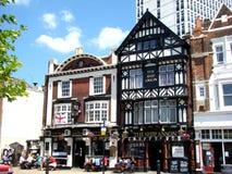 gammal portsmouth pub Arkivbild