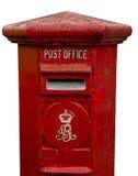 Gammal Postbox med den cliping banan Royaltyfri Fotografi