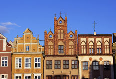 gammal poznan för marknad townhouse arkivbilder