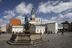 gammal poznan town Royaltyfri Foto