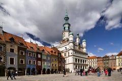 gammal poznan town Arkivfoto