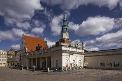 gammal poznan town Royaltyfria Foton