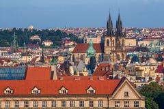 gammal prague fyrkantig town för republiktown för cesky tjeckisk krumlov medeltida gammal sikt Arkivbilder