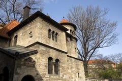gammal prague synagoga arkivfoto