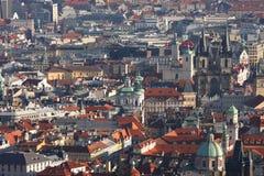 gammal prague town Arkivbilder