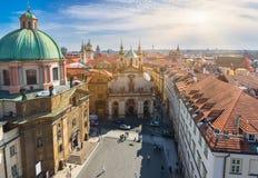 gammal prague town för republiktown för cesky tjeckisk krumlov medeltida gammal sikt Royaltyfria Bilder