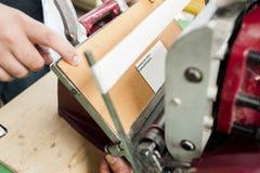 Gammal printingpress Arkivfoto