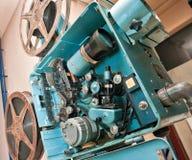 gammal projektor för film Royaltyfri Fotografi