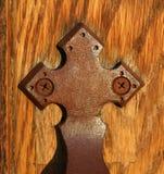 gammal prydnad för dörr Royaltyfri Foto