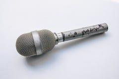 Gammal punkrockmikrofon Arkivbild